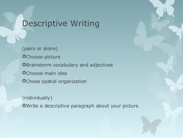 adjectives for descriptive writing pdf