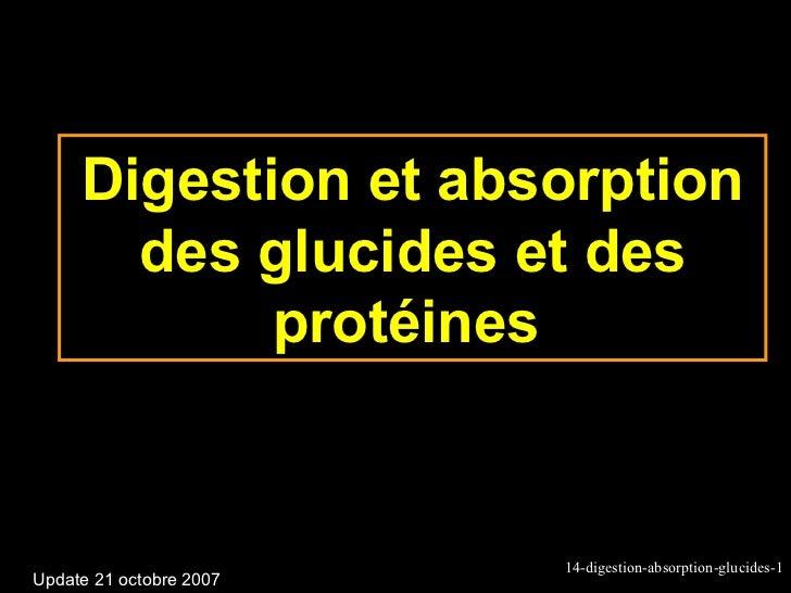 Digestion et absorption       des glucides et des            protéines                         14-digestion-absorption-glu...
