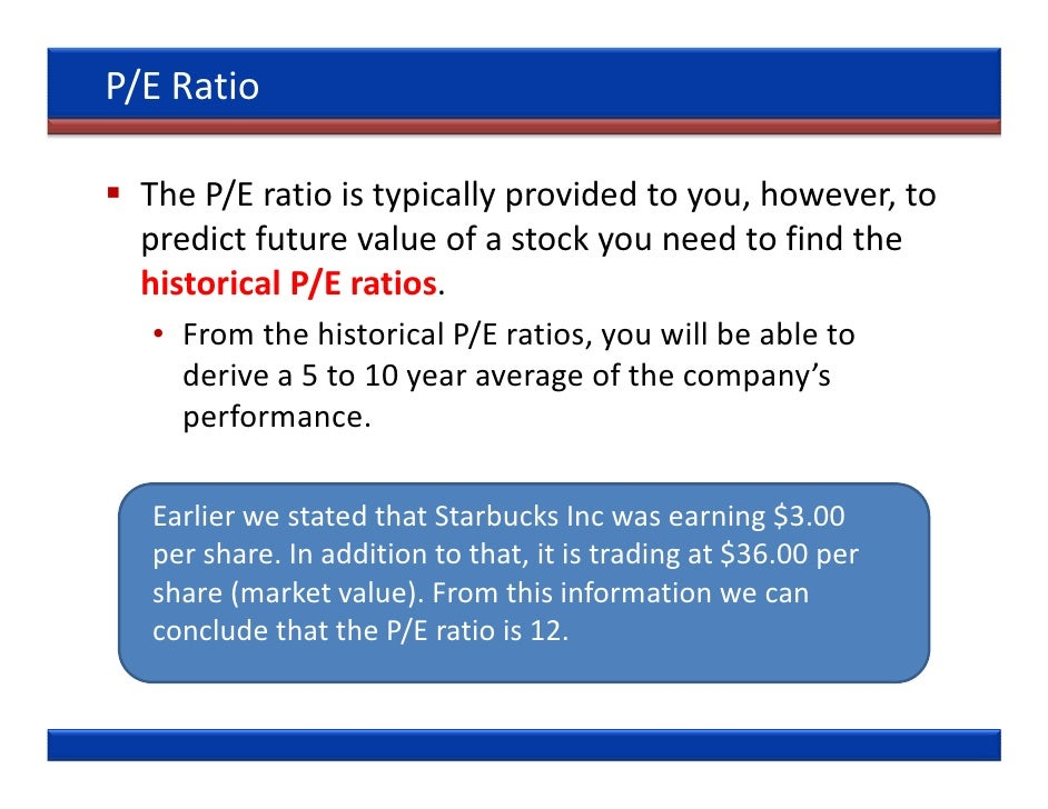 price to earning The price-to-earnings ratio, or simply p/e ratio, is a often used metric in stock valuation also known as earnings multiple, multiple, or simply p/e (or pe) the p/e ratio is obtained by.