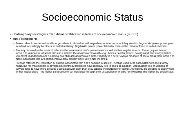 the average life expectancy in relation to the economic status