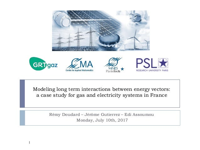 Modeling long term interactions between energy vectors: a case study for gas and electricity systems in France Rémy Doudar...
