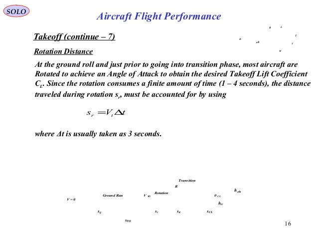 16 Takeoff (continue – 7) Rotation Distance At the ground roll and just prior to going into transition phase, most aircraf...