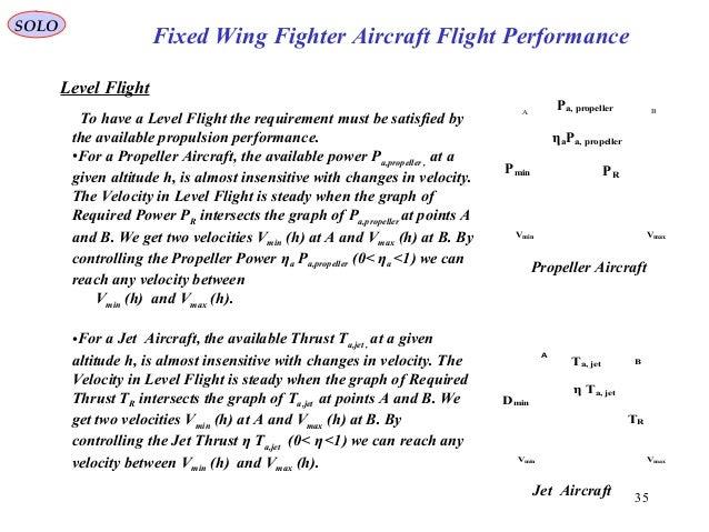 35 Fixed Wing Fighter Aircraft Flight Performance SOLO Vmin Vmax Pa, propeller PRPmin BA ηaPa, propeller Propeller Aircraf...