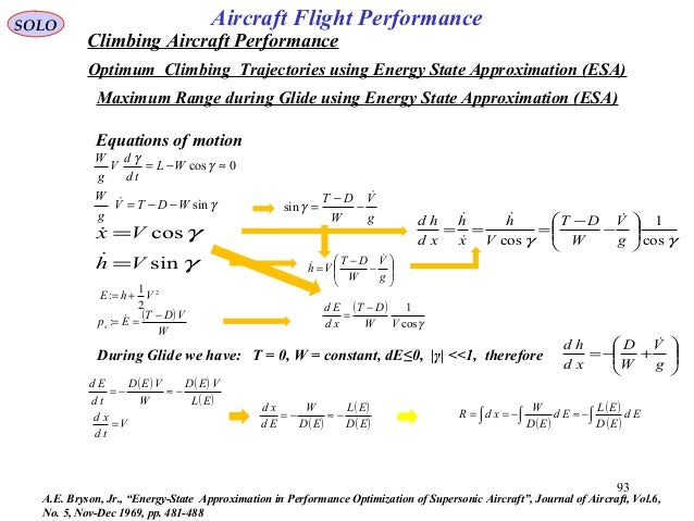93 SOLO Climbing Aircraft Performance Optimum Climbing Trajectories using Energy State Approximation (ESA) Aircraft Flight...