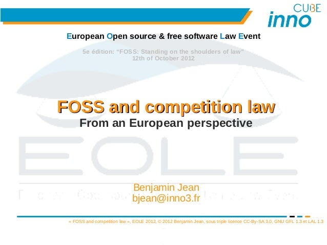 """European Open source & free software Law Event       5e édition: """"FOSS: Standing on the shoulders of law""""                 ..."""