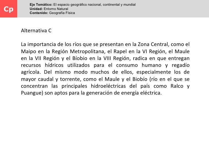 Eje Temático: El espacio geográfico nacional, continental y mundialCp       Unidad: Entorno Natural         Contenido: Geo...