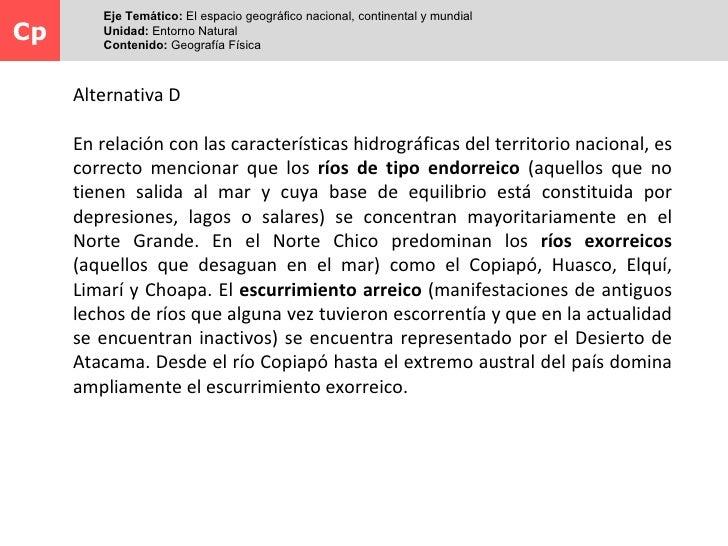 I          Eje Temático: El espacio geográfico nacional, continental y mundial                            Hidrografía de C...