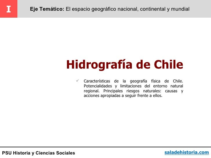 PSU - Hidrografia de Chile