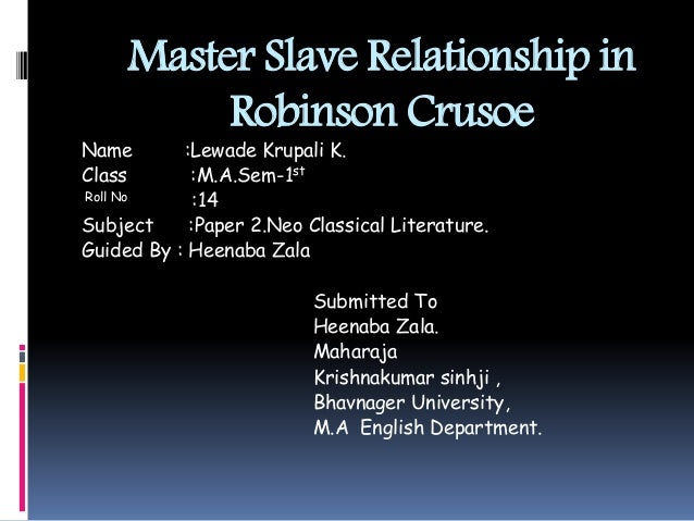 understanding the master slave relationship