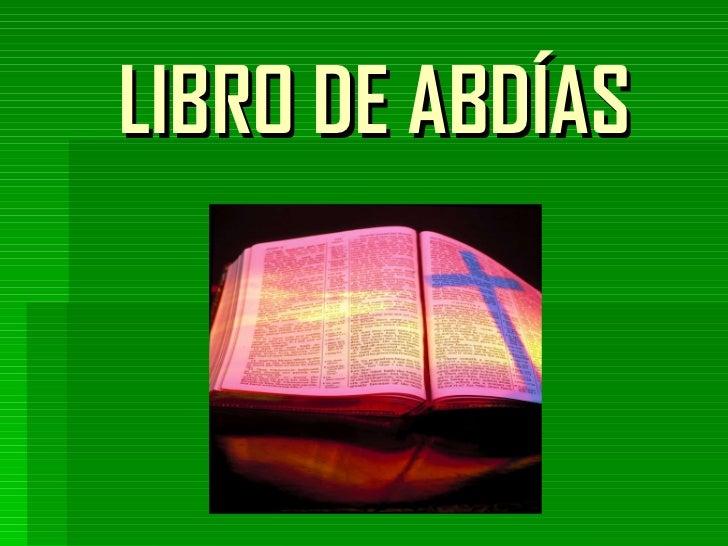 LIBRO DE ABDÍAS
