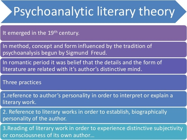 main ideas of psychoanalytic literature theory