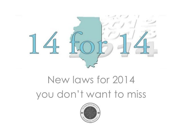 New laws for 2014 you don't want to miss