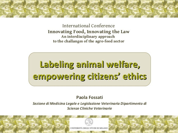 International Conference Innovating Food, Innovating the Law An interdisciplinary approach  to the challanges of the agro-...