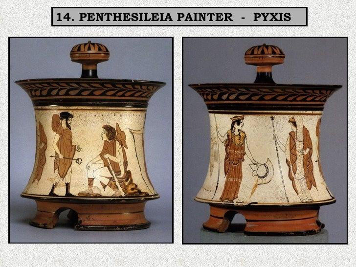 14. PENTHESILEIA PAINTER  -  PYXIS