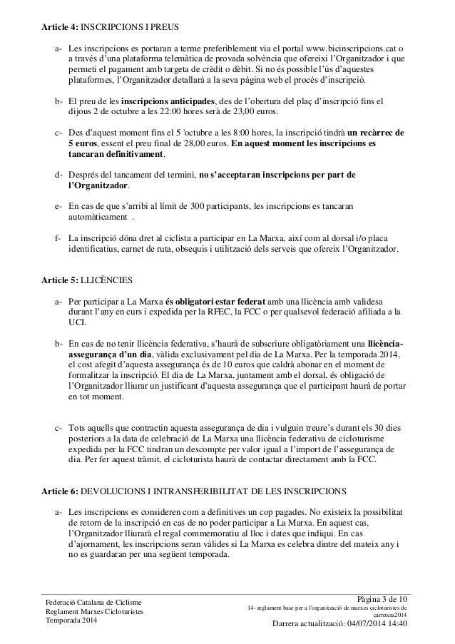 Reglament Pelegrí Pi Slide 3