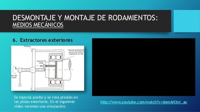 DESMONTAJE Y MONTAJE DE RODAMIENTOS: MEDIOS MECÁNICOS 6. Extractores exteriores http://www.youtube.com/watch?v=domAH3nr_ac...