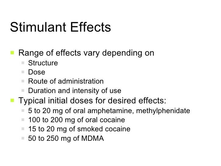 Effects Of Stimulants Stimulants