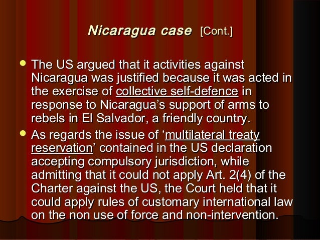 nicaragua case scale and effect