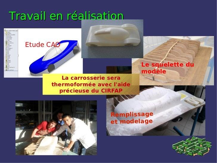 Travail en réalisation   Etude CAO                                    Le squelette du                                    m...