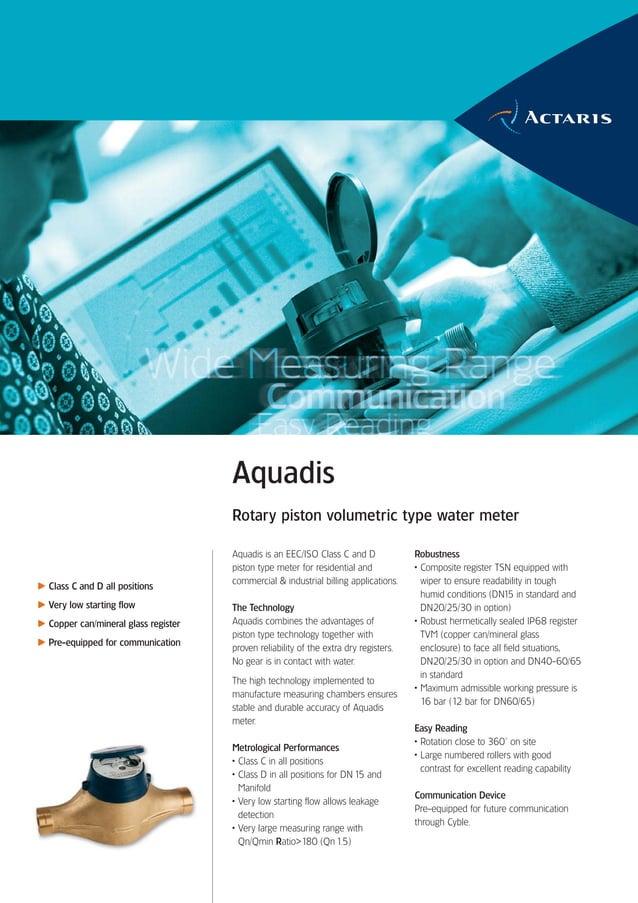 Aquadis                                      Rotary piston volumetric type water meter                                    ...