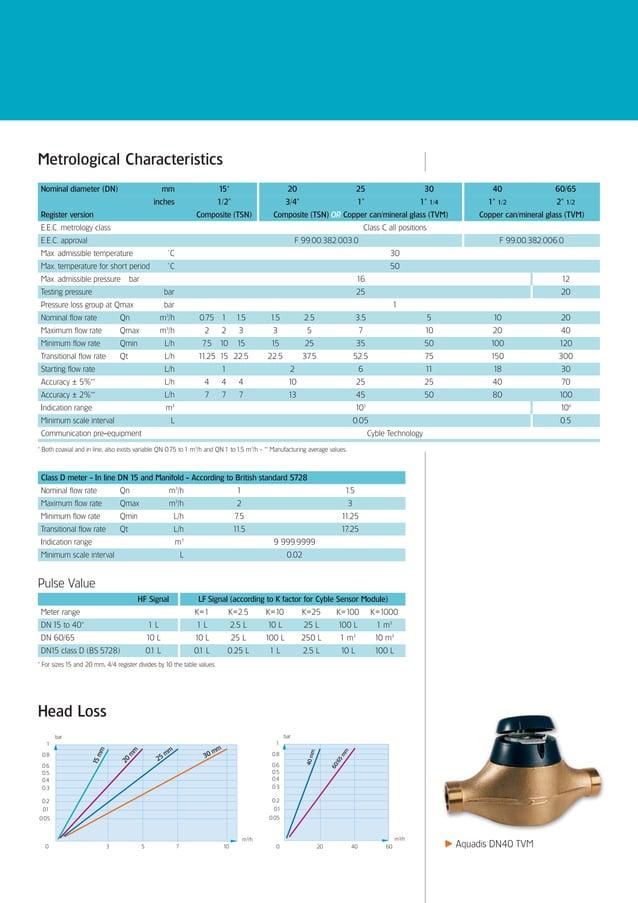 Metrological Characteristics Nominal diameter (DN)                                  mm                    15*             ...