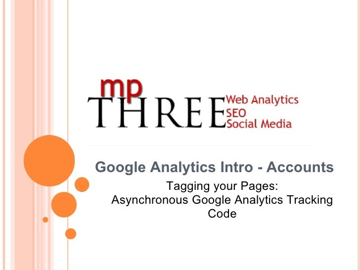Google Analytics Intro - Accounts Tagging your Pages: Asynchronous Google Analytics Tracking Code
