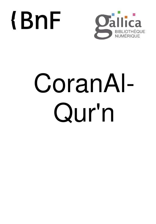 CoranAl- Qur'n