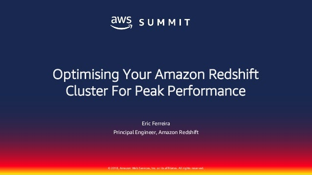 Optimizing Your Amazon Redshift Cluster for Peak Performance