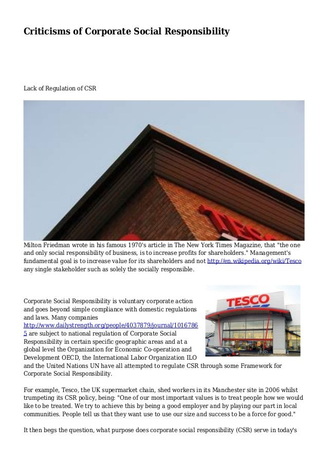 tesco corporate social responsibility report