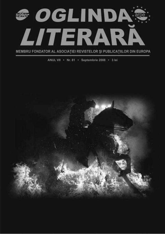 www.oglindaliterara.ro 3702 Coperta 1: Ricardâo - Călăreţul de foc Apare sub egida Uniunii Scriitorilor din România şi fac...