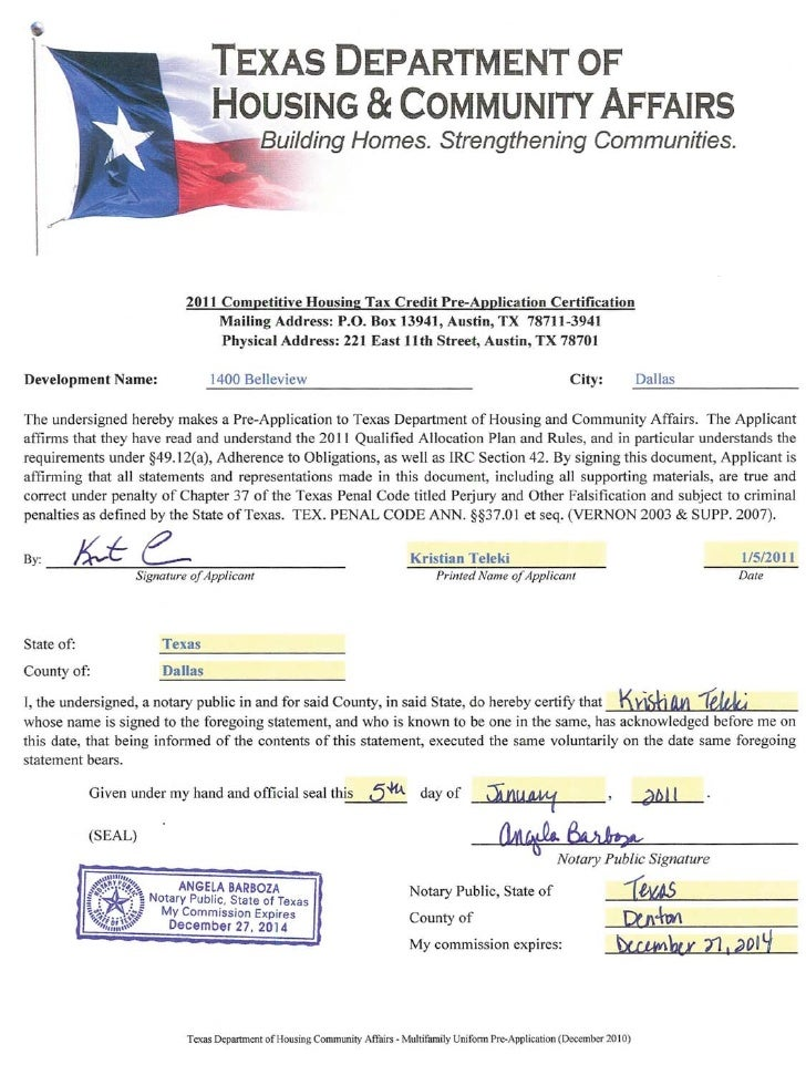 2011 MULTIFAMILY DOCUMENT & PAYMENT RECEIPT                                            Texas Department of Housing & Commu...