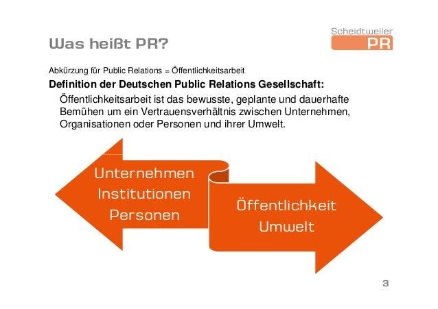 Das Berufsfeld PR - Vortrag am 13. Januar 2014 Slide 3