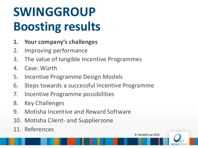 How to set up a successful incentive programme? Slide 2