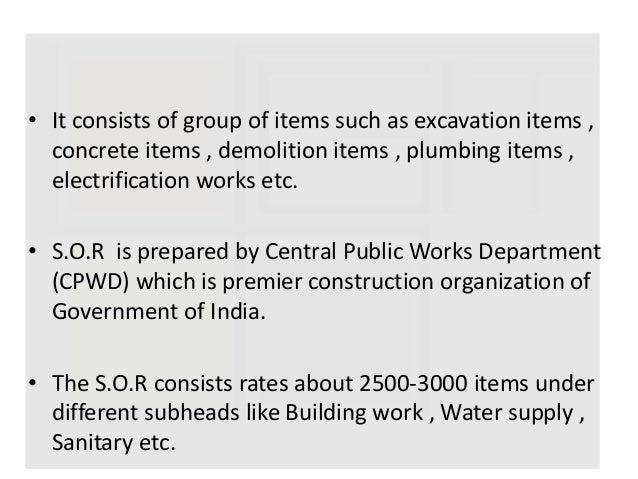 Pwd schedule of rates 2018 19 karnataka of building