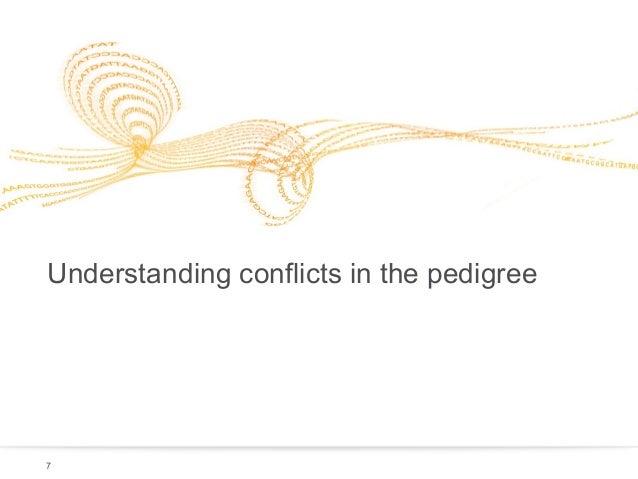Understanding conflicts in the pedigree  7