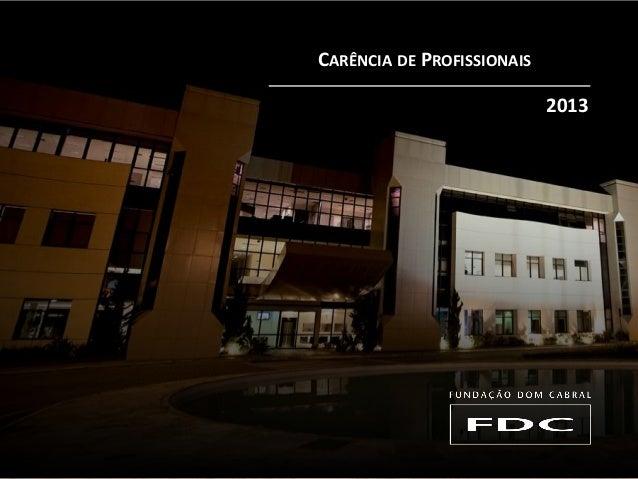 CARÊNCIA DE PROFISSIONAIS 2013
