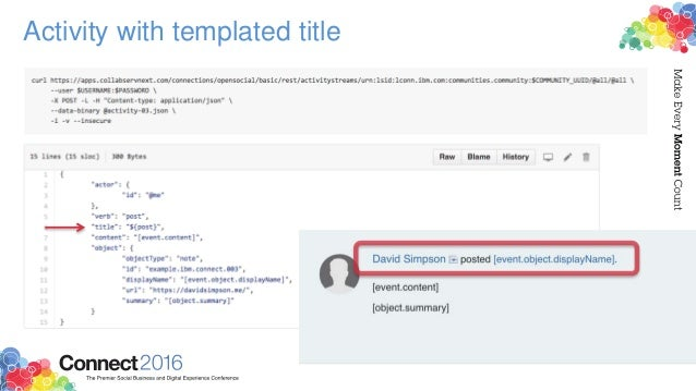 Activity with templated title
