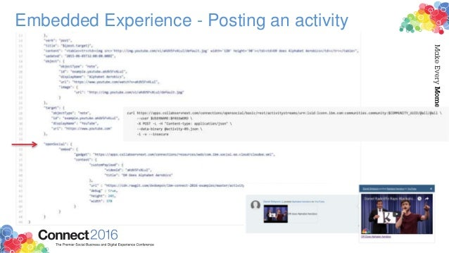 Embedded Experience - Posting an activity
