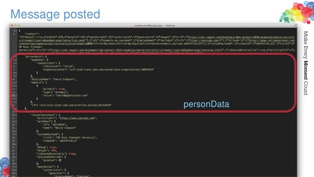 Message posted personData