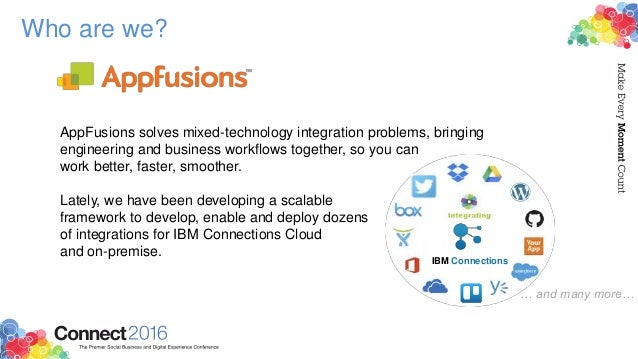 Who are we? AppFusions solves mixed-technology integration problems, bringing engineering and business workflows together,...