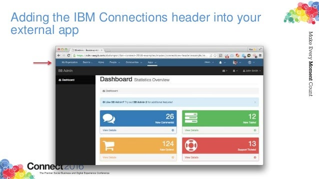 • Add an empty div only when you want to display the IBM Connections header in your external app: • Isolate OneUI styles f...