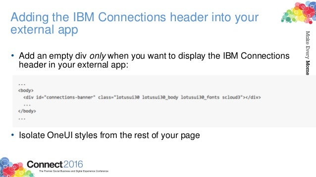 • Test for the presence of this div and only then inject the IBM Connections banner CSS & JS • apps.na.collabserv.com - No...