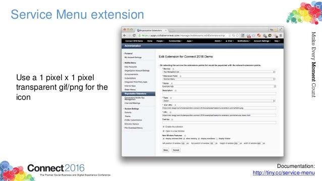 Service Menu extension Documentation: http://tiny.cc/service-menu