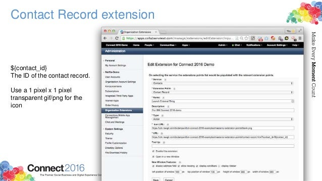 Contact Record extension