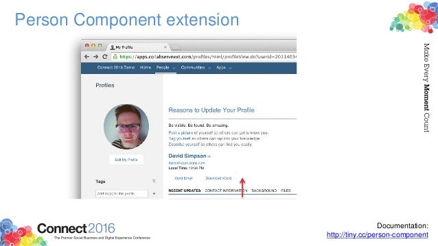 Person Component extension ${user_id} The ID of the current user from where the this button was clicked (i.e. the ID of th...
