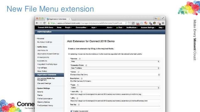 New File Menu extension