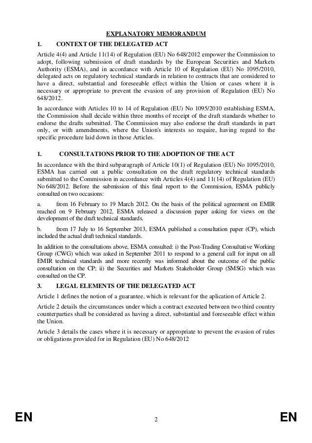 Emir Regulatory Technical Standards