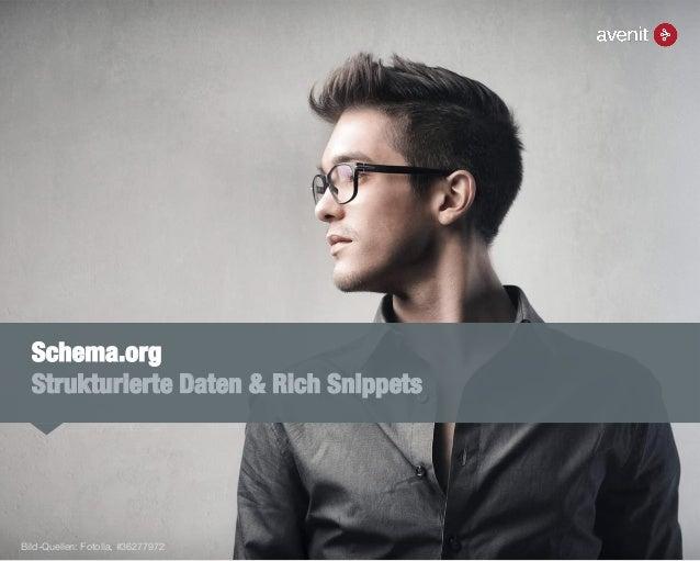 Schema.org Strukturierte Daten & Rich Snippets Bild-Quellen: Fotolia, #36277972