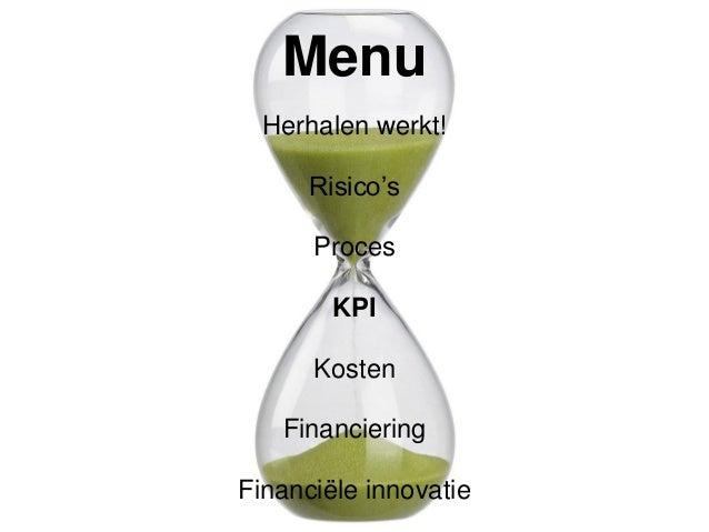 KPI: voorbeelden # Initiatieven Idee Generatie # Ideeën gecapteerd % Ideeën/Verscherpte Ideeën % Ideeën/Relevante feedback...