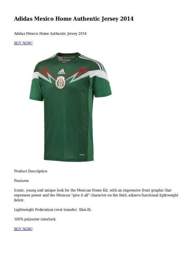 promo code 61067 e6cab Adidas Mexico Home Authentic Jersey 2014